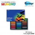 Mungyo Soft Pastel 36 Colours Set (Full Length: 66MM)