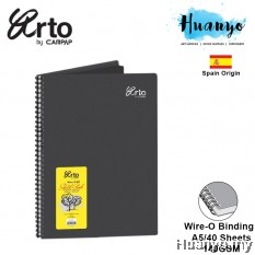 Campap Arto Wire-O Black Paper A5 Sketch Book - 140gsm/40's (Suitable For Mandala and Zentangle Art)
