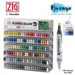 Zig Kurecolor Twin WS Colour Color Marker KC-3000 (Per PCS, Up to 135 Colours) - Live Chat for Colour