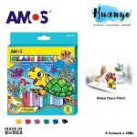 Amos Glass Deco Paint 10ML 6 Colours Set