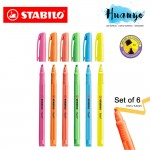 Stabilo Flash Slim Neon Highlighter Textliner Pen (Set of 6)
