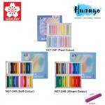 Sakura Nouvel Carre Soft Pastel (Colour Set of 24, NCT-24A / NCT-24B,Pastel Pearl - NCT-24P)