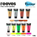 Reeves Fine Artist Quality Series Metallic Iridescent Fluorescent Acrylic Colour Paint (75ML) [Special Colour, Per Tube]