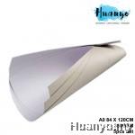Single Side Coated Box Board A0 Size 84 X 120CM, 350GSM (Front White,Back Grey) [5 Pcs Set]