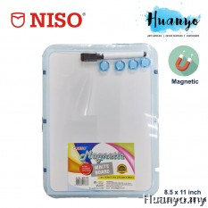 NISO Portable Thin Magnetic White Board (8.5 x 11 inch, A4 Size)
