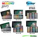Mungyo Gallery Artist Grade Soft Pastel (Pastels Set of 12, 24, 36, 48, Gray / Earth Tone 12)