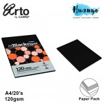 Campap Arto Extra Black Paper A3 120gsm- 10 Sheets/Pack
