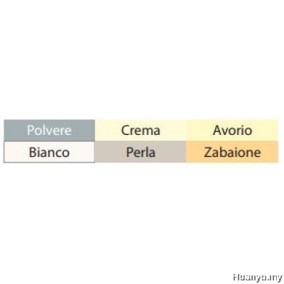 Campap Arto Fabriano Soft Pastel Colour Paper Pad A4 160GSM/24 Sheets (Black, White, Bright, Soft Colour)