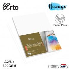 Campap Arto Watercolour A2 42X 60 CM Painting Paper 300gsm/5pcs (100% Cotton, Medium Surface,Gold Cover)
