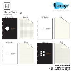 Handwriting Wire O Bullet Journal Sketch Note Book with 70GSM Japanese Papers (A5, 250 pages, Dotted/Square Grid/Blank/Line)
