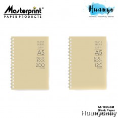 Masterprint Blank Series Wire O Wire-O Kraft Cover Note Sketch Book A5 (100gsm, 120 /200 pages)