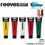 [2020 New 100ML] Reeves Intro Acrylic Colour Paint 100ML [Per Tube] (List 1/2)