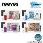Reeves Pre-Mixed Acrylic Pouring Painting Colour Set (Color Set of 4)