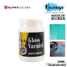 Alpha Colors Acrylic Medium Gloss Varnish 250ML