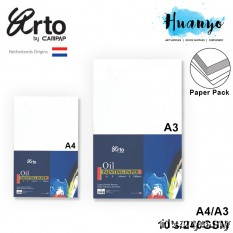 Campap Arto Netherland Oil Colour Paint Painting Canvas Texture Paper A4/A3 (240gsm/10's ,100% Cellolose)