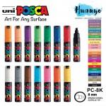 Uni Posca Water-Based Colour Paint Marker PC-8K Bullet Chisel BroadTip (8.0MM)