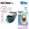 ProXmask 90V 5 Layer Anti Virus Breathable Reusable Washable Fabric 3D Face Mask (2pcs / Pack , Microfiltration (BFE) | Anti-Microbial | Water Repellent | Up to 60 Washes | Easy to Breathe | Skin Friendly)