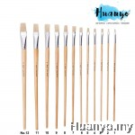 Fortune Artist Hog Bristle Painting Brush 579L Flat Tip (Non Halal) [Per Pcs]