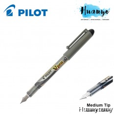 Pilot V - Pen Fountain Pen SVP-4M (Medium Point, Black / Blue Ink)