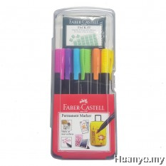 Faber-Castell Permenant Markers Set of 6