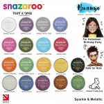 Snazaroo Non Toxic Face & Body Paint (Metallic & Sparkle Colour, 18ML)