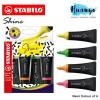 Stabilo Boss Shine Fluorescent Neon Colour Textliner Pen (Set of 4, Chisel Tip 2- 5mm)