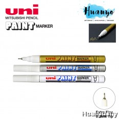 Uni Paint Marker PX 203 - 0.8MM Extra Fine Tip (Per Pcs, Gold / Silver / White)