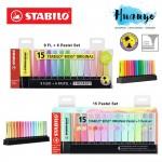 [Limited Edition] Stabilo Boss Original Fluorescent & Pastel Colour Highlighter Textliner Desk Set (Set of 15)