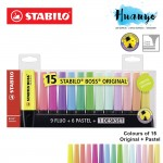 [Limited Edition] Stabilo Boss Original & Pastel Colour Highlighter Textliner Desk Set (Set of 15 )