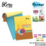 Campap Arto Construction Colour Sugar Paper Pad  (A4-100gsm, Mixed 10 Colours / 50 Sheets)