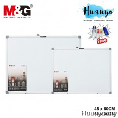 M&G Aluminium Frame Thin Magnetic White Board (Free Marker Pens , Duster & Magnets) [45 x 60 CM, 60 X 90CM]