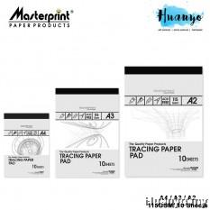Masterprint Tracing Paper Pad 115GSM  (A4 / A3 / A2 Size - 10 Sheets/Pad )