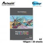 Masterprint Drawing Paper Block 165GSM  (A3 Size - 20 Sheets )