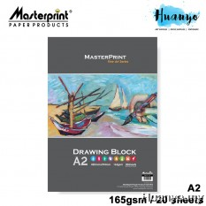 Masterprint Drawing Paper Block 165GSM / 200GSM  (A2 Size - 20 Sheets )