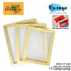 Arto's Silk Screen Printing Wooden Frame Block ( A4 - 8 x 11 inch / A4 Plus - 10 x 14 inch / A3 - 12 x 16 inch)