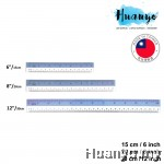 Sanko Star High Quality PVC Flexible Plastic Straight Ruler With CM & Inch Measurement (15CM/6'' , 20CM/8'', 30CM/12'')