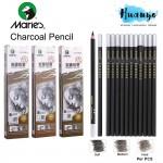 Marie's Artist Drawing Sketching Charcoal Pencil C7300 (Soft / Medium Neutral / Hard) [Per Pcs]