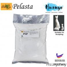 Pelasta POP Plaster of Paris / Gypsum plaster Sculpture Modeling Art Clay - 1 KG / Pack