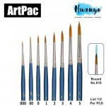 Artpac Artist Nylon Brush 818 - Round [Muslim Friendly] (Per PCS, No. 000/00/0/1/2/3/4/5) [List 1/2]