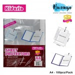 Kidario 11 holes Super Clear Thick Plastic Sheet Protector Pack (A4/100pcs)