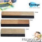 Textile Silk Screen Printing Black Rubber Squeegee Blade With Wooden Holder ( 8 / 9 / 12 inch)