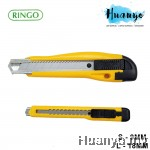 Ringo Razor Blade Utility Knife Cutter (S - 9MM / L - 18MM, Yellow Colour)