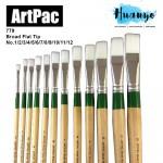 Artpac Artist Nylon Brush 779 - Broad Flat Tip [Muslim Friendly] (Per PCS, No.1/2/3/4/5/6/7/8/9/10/11/12)