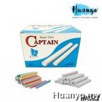 Captain Black Board Chalk Kapur Tulis (White / Colour) (12pcs Pack / 1 Box 400g, ±80pcs) [For Writing, Chalk Art]