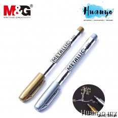 M&G Metallic Colour Paint Marker Pen 1.5MM Bullet Tip (Gold / Silver)