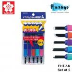 Sakura Rubber Grip Carving Knife Tools (Set of 5, EHT-5A)