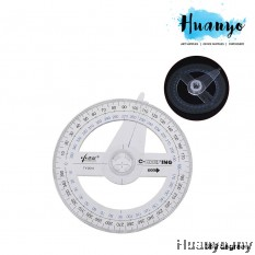 Math Geometry Geometric Protractor Ruler 360 degrees Angle Measurement with Pointer