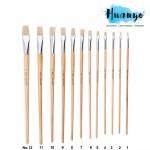 Fortune Fine  Artist Hog Bristle Painting Brush 579E Flat Tip (Non Halal) [Per Pcs]