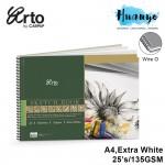 Campap Arto Wire O/Wire-O Sketch Book A4 (Extra White Korea Paper, 135gsm / 25 sheets)