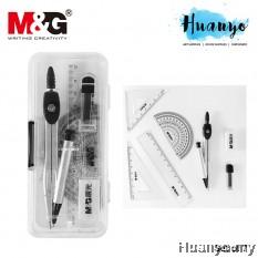 M&G Portable Mini Geometry Compass Case ( Set of 7)